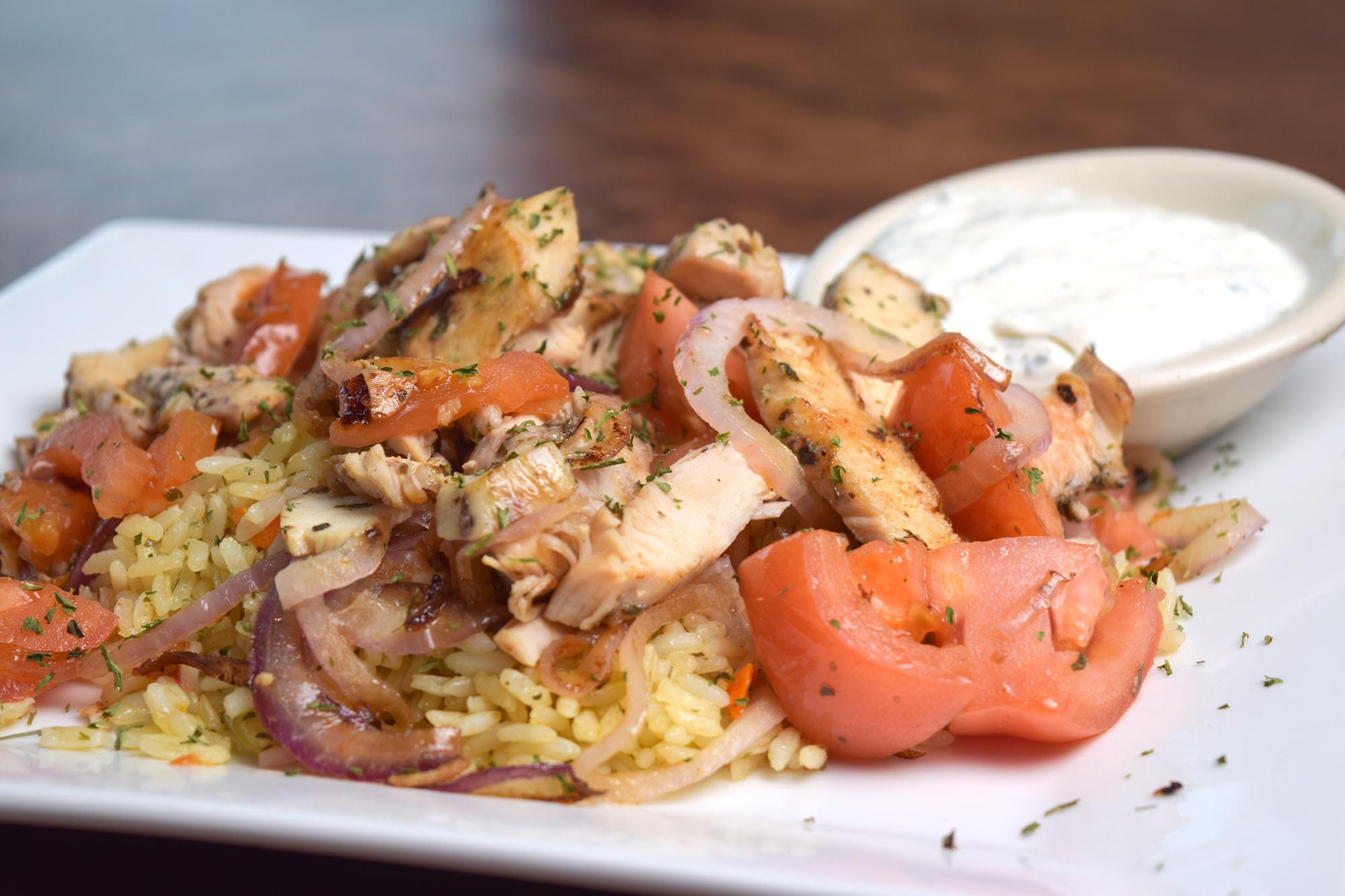 Spiro's Taverna Greek Chicken Dish