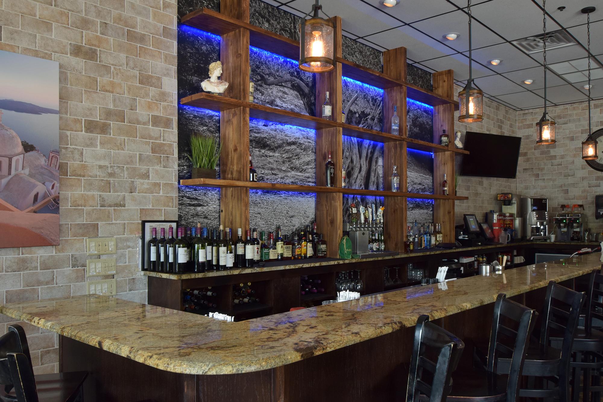 Spiro's Taverna Bar Area