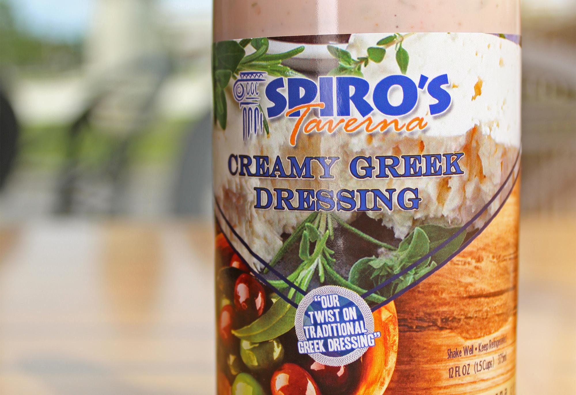 Spiro's Taverna Greek Dressing Bottle