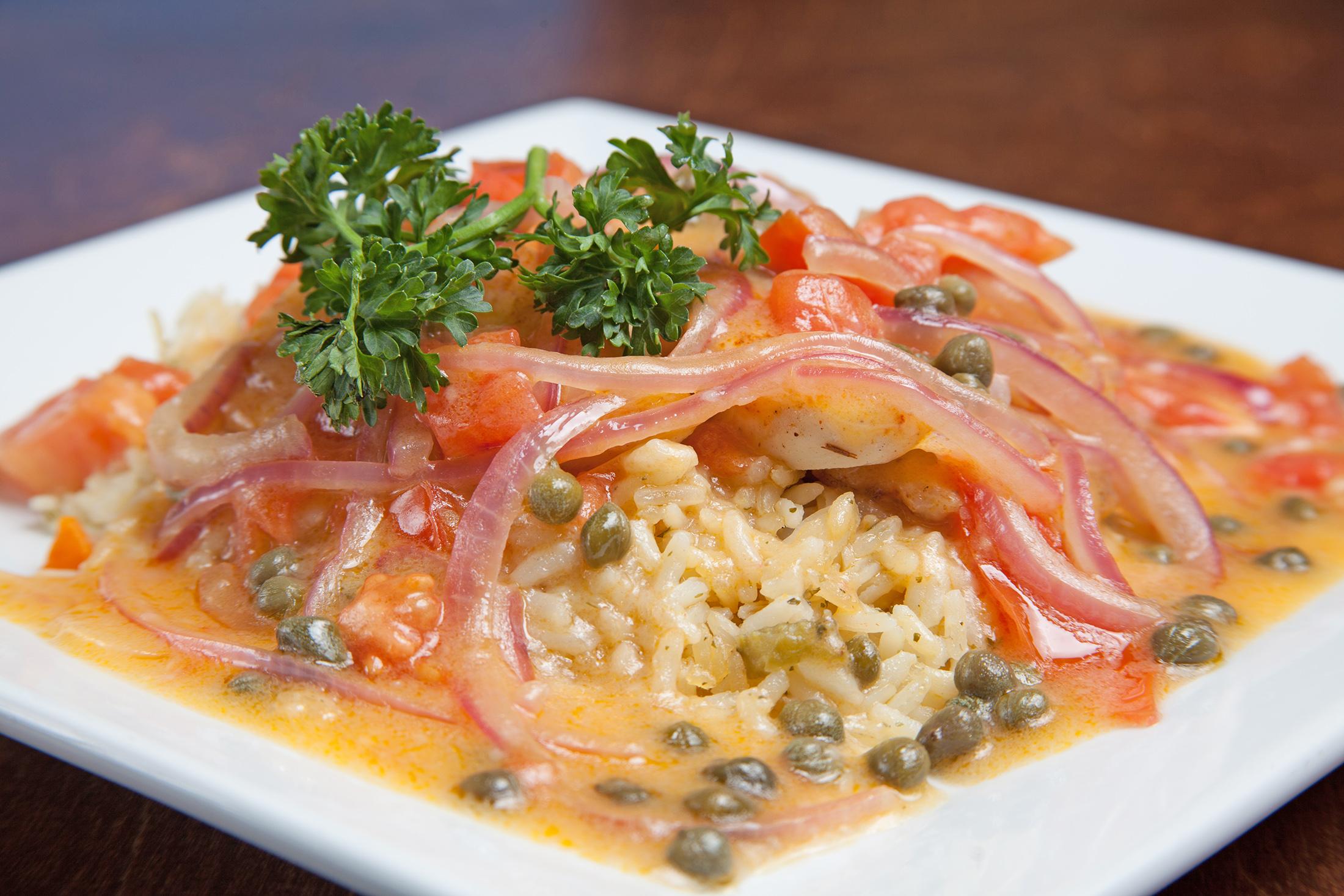 Spiro's Taverna Rice Dish